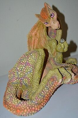 MARTY DRAGON KEEP Hatch 5200 Swarovski Crystal Eggs AS-IS Cracked VTG 90s STATUE
