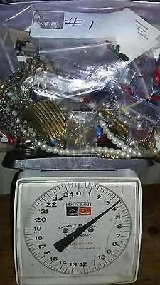 COSTUME JEWERLY LOT OF 3 1/2 LBS. Lot #1