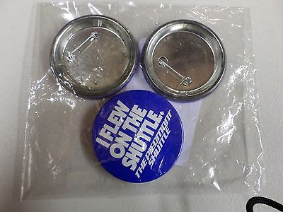"""Piedmont Airlines Vintage Advertising Button """"I FLEW ON THE SHUTTLE""""~Pack of 3"""