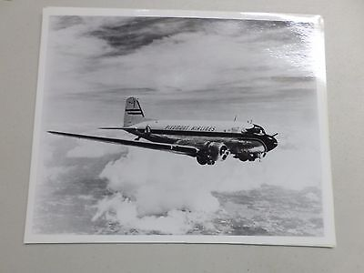 Original Black & White airplane 8x10 photo Piedmont Airlines aircraft DC-3