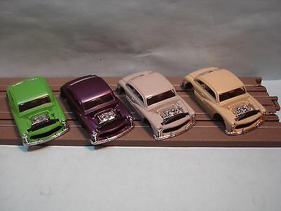 Ho Xtras Body Lot #3 1949 Hot Rod Coupe Bodies In 4 Colors See Detail Fits Afx