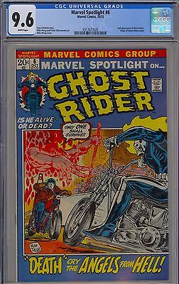 Marvel Spotlight #6 CGC 9.6 NM+ Wp 2nd Ghost Rider Origin Retold Marvel 1972