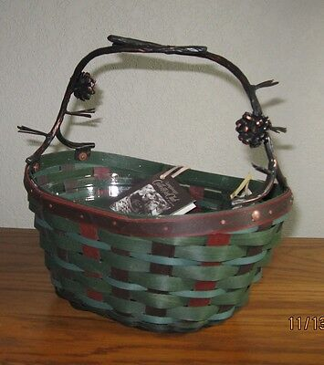 Longaberger Collector's Club ~ EVERGREEN BASKET & PROTECTOR ~Forever Green ~ NIB