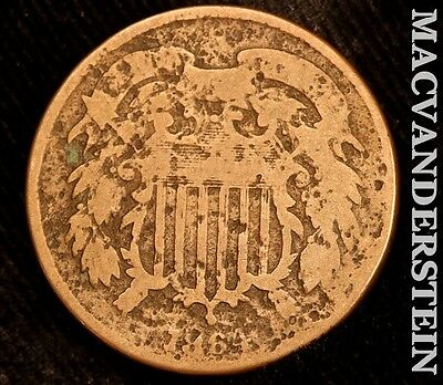 1864 Shield Two Cent- Scarce !! Better Date !! #t999