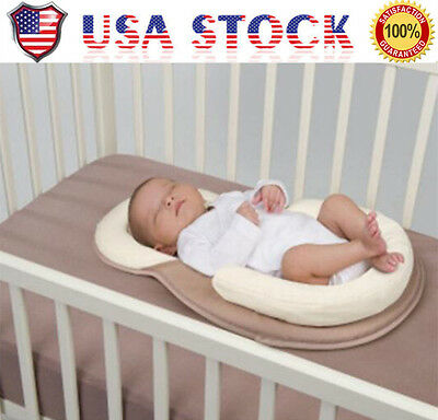 US Baby infant Anti-Rollover Safe Cotton Sleep Pad Mat Support Pillow Head