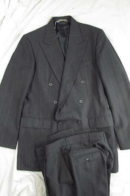 Vtg Haggar Imperial 2 Pc Double Breasted Wool Suit Jacket & Pants 38 L 31x33