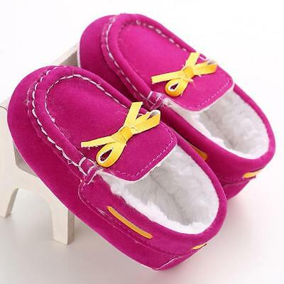 Baby Toddler Infant Boys Girls Shoes Soft Sole Crib Shoes Fleece Moccasin 12 US