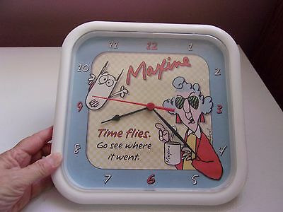 Maxine Clock Wall Battery Operated Not Included Time Flies Go see where it went