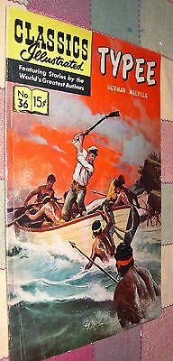 Classics Illustrated Comics No 36 Typee by Herman Melville April 1947