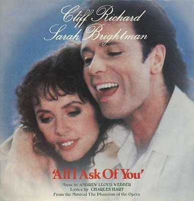"Cliff Richard All I Ask Of You UK 12"" vinyl single record (Maxi) POSPX802"