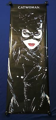 vintage 1992 Catwoman Michelle Pfeiffer DOOR POSTER 24x71in Tim Burton Batman
