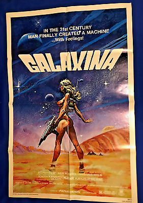 vintage 1980 Galaxina MOVIE POSTER ONE SHEET 1S 27x41in Dorothy Stratten Playboy