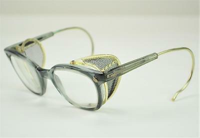 Vintage American Optical Smoke Gray Safety Glasses 6 3/4 []48