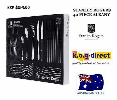 STANLEY ROGERS ALBANY 40 Piece Cutlery Set Stainless Steel 25 Year Guarantee
