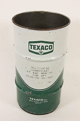 TEXACO Vintage 120 Pound Drum Steel Can Gas Station Multigear Lubricant 80-90 Wt