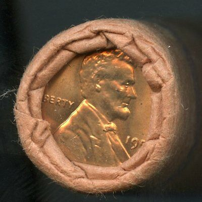 1958 P Lincoln Wheat Cent OBW Original Bank Wrap Uncirculated Roll