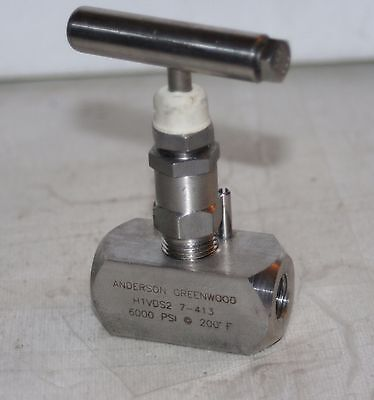 """1/4"""" NPT 6000 Psi SS Needle Valve Anderson Greenwood H1VDS2 7-413"""