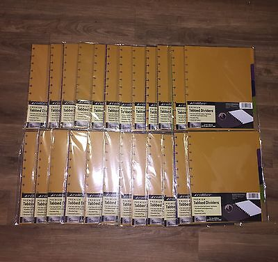 "Caliber Notebook Premium Tabbed Dividers 5 Count Assorted 8.5"" x 11""  Lot of 24"