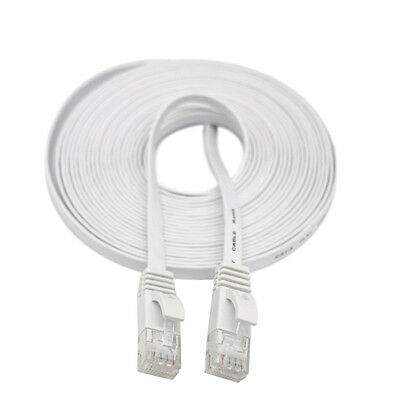 5M RJ45 CAT6 Ethernet Network LAN Cable Flat UTP Patch Router Interesting Lot WH