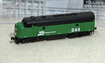 Z Scale Micro-Trains BURLINGTON NORTHERN F7 #644 --  NEW IN BOX