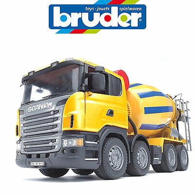 Bruder Large 1:16 Scania R Cement Mixer Truck Construction 3554 Made In Germany