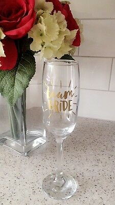 Team Bride Hen Party Wedding Glass Sticker Decal Prosecco Wine  Bridesmaid