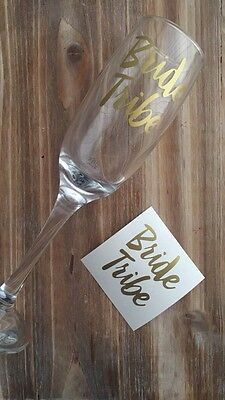 Bride Tribe Hen Party Wedding Glass Sticker Prosecco Wine Shot Bridal Bridesmaid