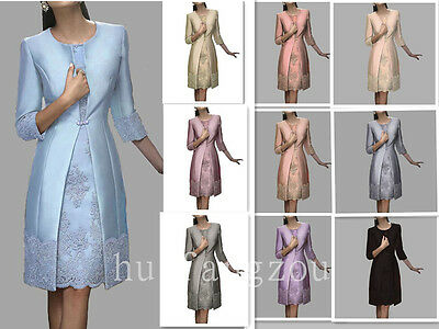 Formal Mother Of the Bride Dresses Gowns Purple Size 4 6 8 10 12 14 16 Plus New