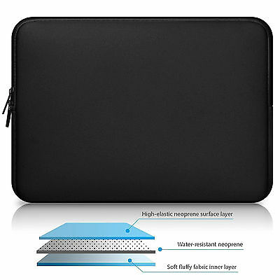 Waterproof Neoprene Sleeve Laptop Case Cover Zipper Bag F MacBook Air Pro 13 15