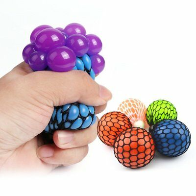 Anti Stress Face Reliever Grape Ball Autism Mood Squeeze Relief ADHD Toy TU