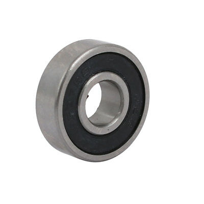 19mmx7mmx6mm Double Rubber Sealed Deep Groove Ball Bearing Silver Tone