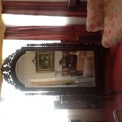 Antique  Cheval   Mirror. Bevelled  Glass    Stunning Item.