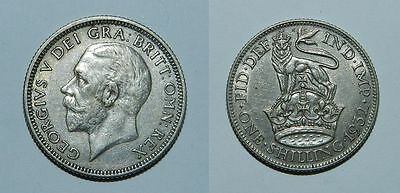 GREAT BRITAIN :  SILVER SHILLING 1932 - EF with Lustre