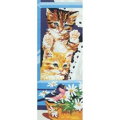 The Curious One Cats Tapestry Needlepoint Canvas Royal Paris