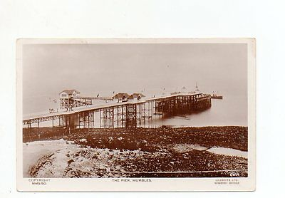 Old Postcard The Pier Mumbles Wales Pm 1934
