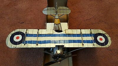 Tinplate Vintage Fire Catcher Aeroplane by Tinplate Models NEW