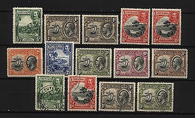 Grenada 1934 Collection KGV Multi Design Stamps Mounted Mint + Used