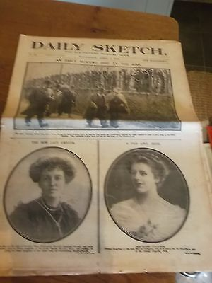 1909 Daily Sketch Newspaper Includes Bradford City Footballers & Monaco Regatta
