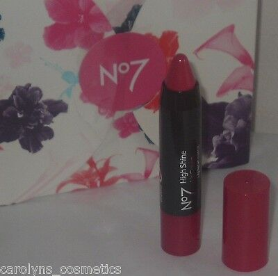 BOOTS No7 High Shine LIP CRAYON Rosy Blush Promotional Size 1.4g NO BOX Worth £5