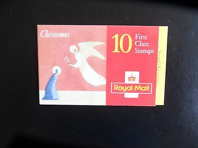 Gb. Qe11. 1996. 10 X 1St First Class Christmas Stamp  Barcode Booklet. Mint N/h