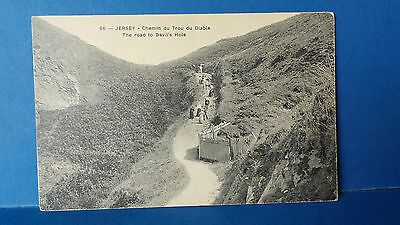 Jersey Channel Islands Postcard Road to Devil's Hole G Barre No 66 Unused c1905