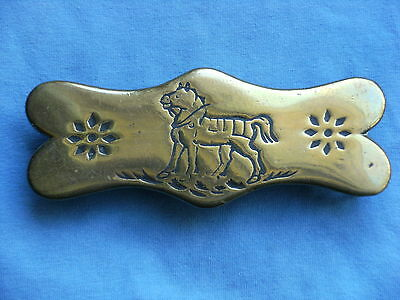 Horse Brass   Hame Plate  Horse In Harness