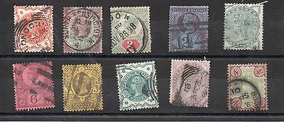 GB QV  Collection of 10x  Used Victoria stamps as scan