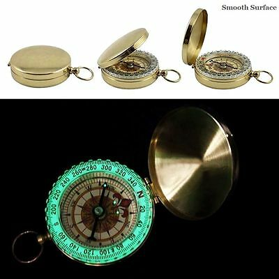 Pocket Brass Watch Style Camping Hiking Outdoor Navigation Compass Ring Keychain