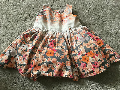 Baby Girls Pretty Floral Print Summer Dress Size 9-12 Months