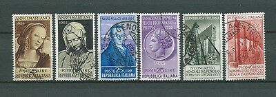 ITALIE - 1954 YT 688 à 693 - TIMBRES OBL. / USED