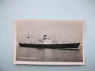 S.S.'ROSE OF LANCASTER', Red Rose Navigation Co - old postcard
