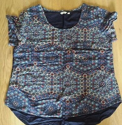 Ladies navy white red casual top 18 Fatface Fat face plus size short sleeve