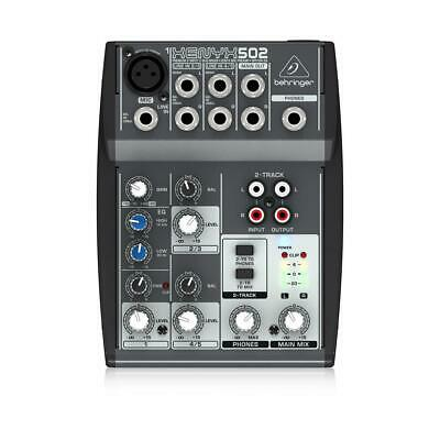 Behringer XENYX 502 5-Channel 2-Bus Mixer with XENYX Mic Preamp and British EQ