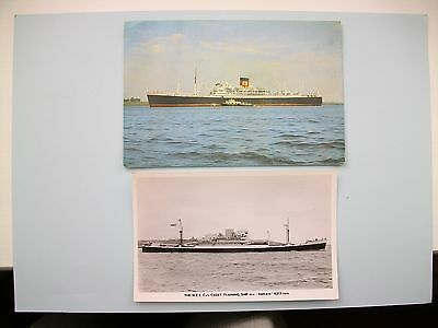 2 OLD SHIPS CARDS - New Zealand interest - 'RANGITOTO' & 'RAKAIA'